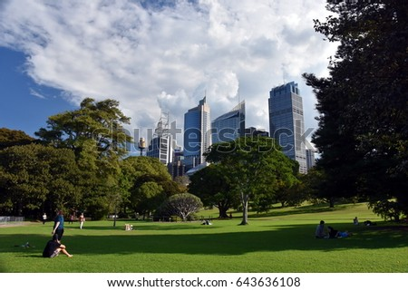 View Of Sydneyu0027s Skyline From Royal Botanic