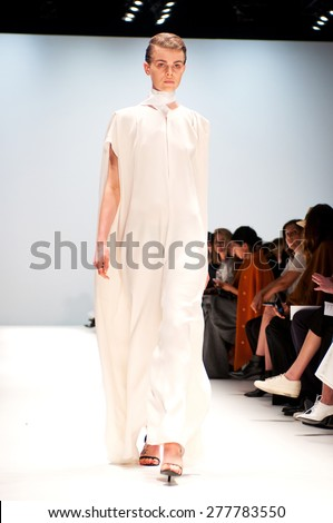 SYDNEY AUSTRALIA - 13 APRIL 2015: Tome fashion show runway at Mercedes Benz Fashion Week in Carriageworks Sydney Australia. April 13, 2015 Sydney NSW Australia. Exclusively for Shutterstock - stock photo