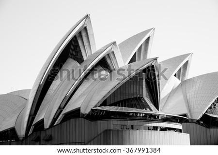 Sydney, Australia - AUGUST 13, 2015: The Sydney Opera House, the Masterpiece of Modern Architecture - stock photo