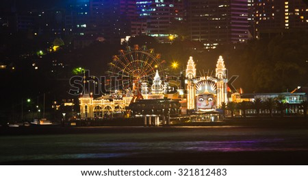 SYDNEY, AUSTRALIA - DEC 10: Luna Park. It is an amusement park located at Milsons Point on DECEMBER 10, 2011 in Sydney, Australia.