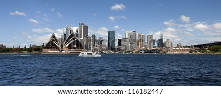 SYDNEY, AUSTRALIA - JANUARY 30, 2012: Famous 'Sydney Opera House' is the UNESCO Heritage Site. Opera, designed by Danish architect Jorn Utzon, was opened in 1975. January 30, 2012, Sydney, Australia.