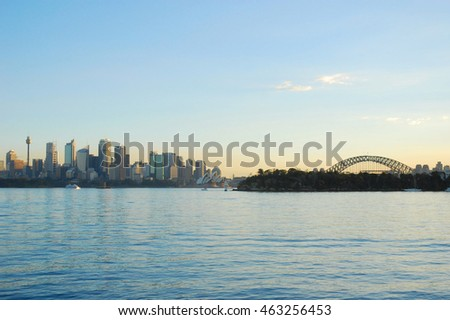 Sydney, Australia - June 23, 2009: Sydney skyline at sunset