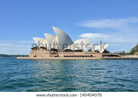 SYDNEY, AUSTRALIA - JUNE 7: The Sydney Opera House is a multi-venue performing arts centre other than a symbol of both Sydney and the Australian Nation. Sydney June 7, 2011. - stock photo