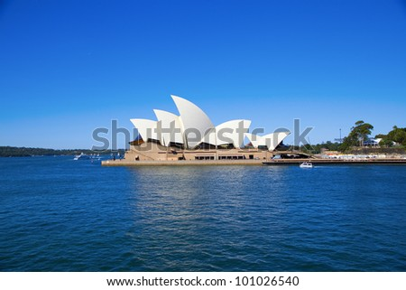 SYDNEY, AUSTRALIA - MARCH 22: Side view of Sydney's most famous icon, the Sydney Opera House on March 22,2012 in Sydney, Australia. The Opera House will celebrate its 40th anniversary in 2013.