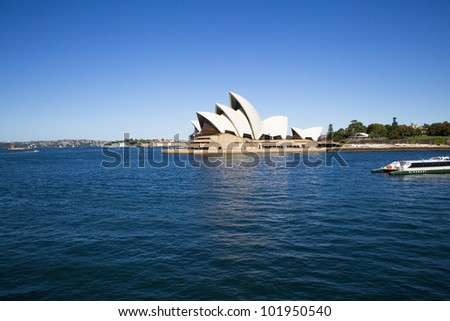 SYDNEY, AUSTRALIA - MARCH 22: Sydney's most famous icon, the Sydney Opera House on March 22,2012 in Sydney, Australia. The Opera House will celebrate its 40th anniversary in 2013. - stock photo