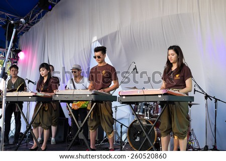 SYDNEY, AUSTRALIA - MARCH 14, 2015: The Thailand Grand festival is an annual event held in Sydney Darling Harbour.  It aims to promote Thai culture through a variety of live shows and food tasting. - stock photo