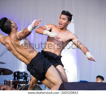 SYDNEY, AUSTRALIA - MARCH 14, 2015: The Thailand Grand festival is an annual event held in Sydney Darling Harbour.  It aims to promote Thai culture through a variety of live shows and food tasting.