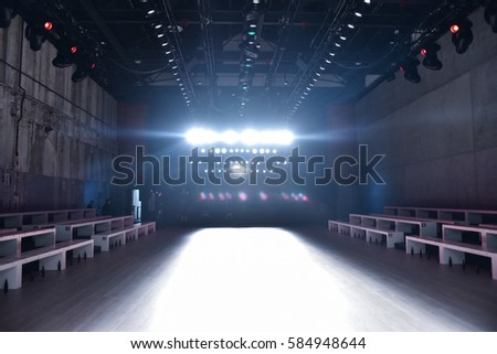 3d illustration fashion empty runway spot stock for Runway stages