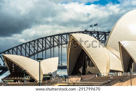 SYDNEY, AUSTRALIA - November 2014. Sydney Opera House hosts over 1,500 performances each year attended by some 1.2 million people. Sydney Opera House on November 3, 2014