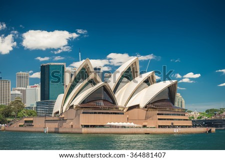 Sydney, Australia - November 09, 2015: The Sydney Opera House is a multi-venue performing arts centre identified as one of the 20th century's most distinctive buildings.