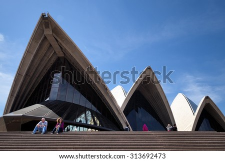 SYDNEY, AUSTRALIA - OCTOBER 31, 2014. The Iconic Sydney Opera House hosts over 1,500 performances each year attended by some 1.2 million people