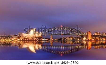 Sydney Australia,22 October : View of sydney opera houses from Botanic gardens on October 22, 2015 in Sydney Australia. - stock photo