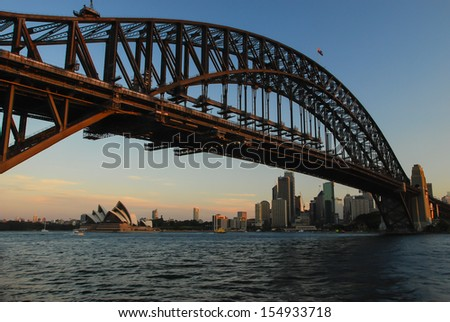 SYDNEY, AUSTRALIA - SEPT 12 2008: Sydney Opera House and Harbour