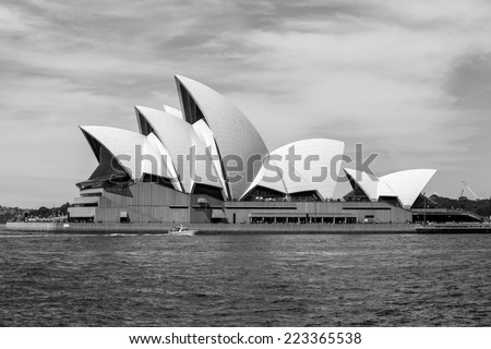 Sydney, Australia - September 20: The Sydney Opera House in Sydney, Australia on September 20, 2014. - stock photo