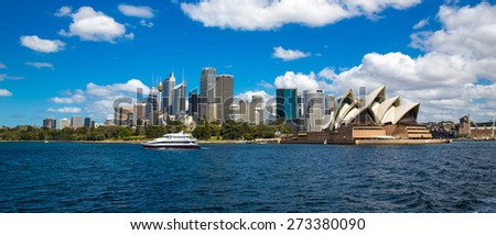 Sydney, Australia - September 21: The Sydney Opera House in Sydney, Australia on September 21, 2014.  - stock photo