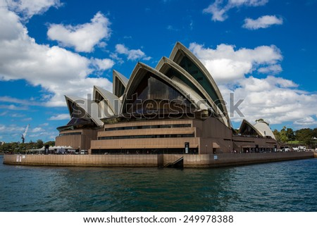 Sydney, Australia - September 21: View of the Opera House, an iconic landmark in Sydney, Australia on September 21, 2014. - stock photo