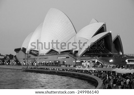 Sydney, Australia - September 19: View of the Opera House in Sydney, Australia on September 19, 2014. - stock photo