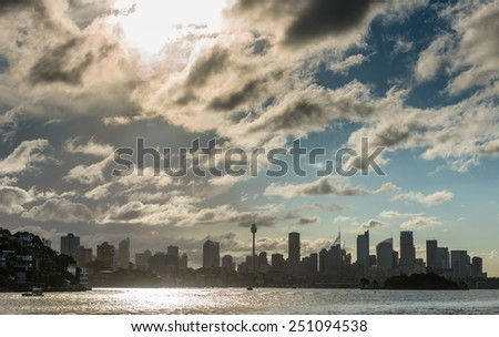 Sydney city cbd. - stock photo