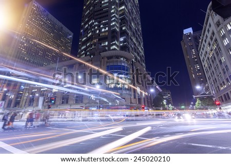 Sydney City Night - stock photo