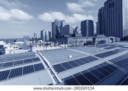 Sydney City Solar Energy - stock photo