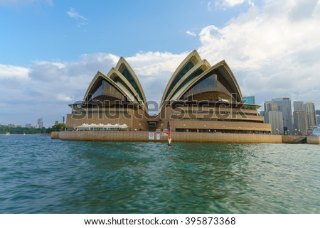 SYDNEY - FEB 20: Sydney Opera House on Feb 20, 2016 in Sydney. It is Identified as one of the 20th century's most distinctive buildings and one of the most famous performing arts centres in the world.