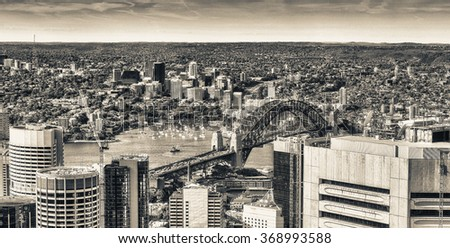 Sydney Harbour. - stock photo
