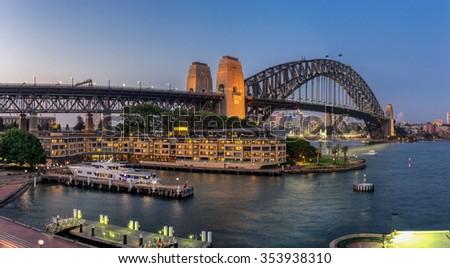 Sydney Harbour Bridge in NSW Australia - stock photo