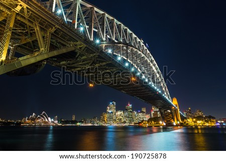 Sydney Harbour Bridge,  Sydney Harbour - stock photo