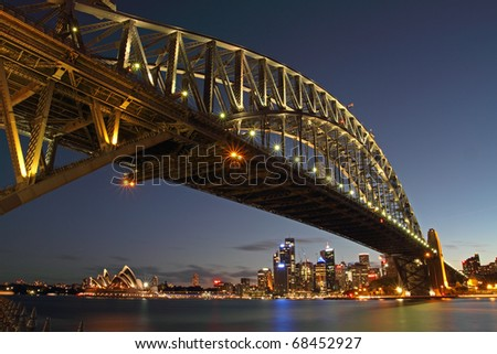 Sydney Harbour Bridge taken after sunset