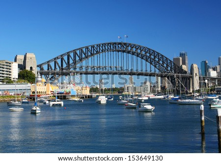 Sydney Harbour in Australia - stock photo