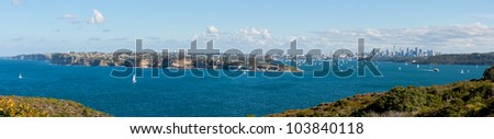 Sydney Harbour Panoramic - stock photo