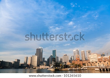 Sydney Harbour Skyline - stock photo