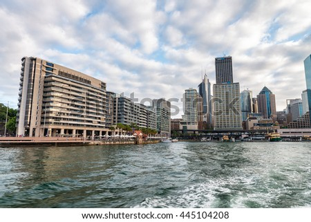 Sydney Harbour waterfront buildings, Australia.