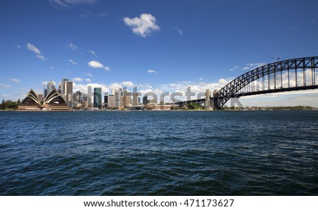 SYDNEY -JAN.30, 2012:The capital of New South Wales with 5 mil. is the most populous city in Australia and Oceania. Area has been inhabited by indigenous Australians since the Upper Paleolithic period