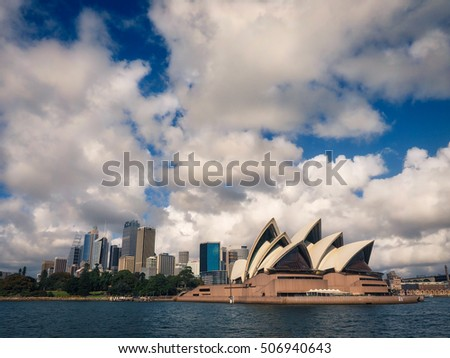 SYDNEY - March 4, 2016: Sydney Skyline with Opera House on March 4, 2016 in Sydney, Australia.