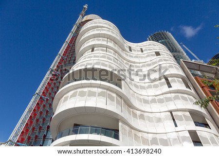 SYDNEY - MARCH 31: The new building, built in Darling Harbour. March 31, 2016 in Sydney, Australia. - stock photo