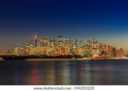 SYDNEY - MAY 14: City scape of Sydney on May 14, 2014 in Sydney. It is the state capital of New South Wales and the most populous city in Australia.