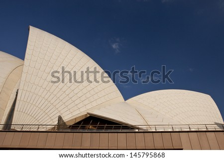 SYDNEY - NOV 12: The Iconic Sydney Opera House is a multi-venue performing arts centre also containing bars and outdoor restaurants. November 12, 2011 in Sydney, Australia. - stock photo