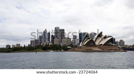 SYDNEY, November 22, 2008 - View of Sydney including Sydney Opera house, Photographed in Sydney, Australia on 22 November, 2008