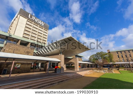 SYDNEY, NSW, AUSTRALIA - May 30, 2014: The University of New South Wales (UNSW) is an Australian public university established in 1949. It has more than 50,000 students from over 120 countries. - stock photo