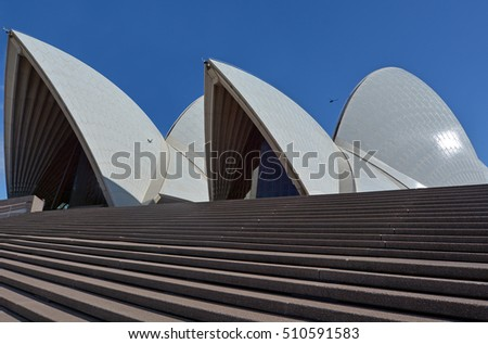 SYDNEY - OCT 19 2016:Sydney Opera House, one of the 20th century's most famous and distinctive building in the world.