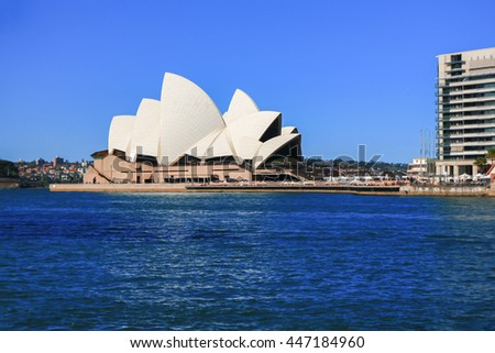 Sydney - October 14, 2012:The Iconic Sydney Opera House is a multi-venue performing arts centre also containing bars and outdoor restaurants. October 14, 2012, Sydney, Australia