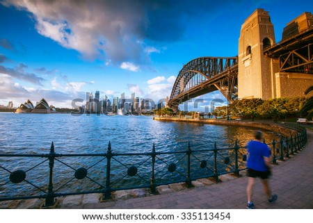 SYDNEY - October 20: The Sydney Opera House is a multi-venue performing arts centre close to the Sydney Harbour Bridge and the Sydney central business district. October 20, 2015 in Sydney, Australia. - stock photo