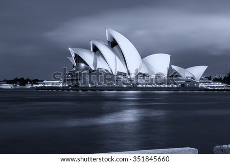 SYDNEY - OCTOBER 12, 2015: The Sydney Opera House. It was designed by Danish architect Jorn Utzon and is now a city symbol.