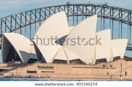 SYDNEY - OCTOBER 12, 2015: The Sydney Opera House. It was designed by Danish architect Jorn Utzon.