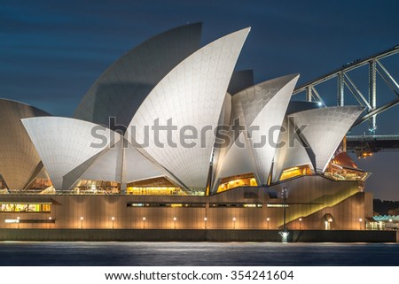 SYDNEY - OCTOBER 16, 2015: View of famous Sydney Harbour. The city attracts 15 million people annually.