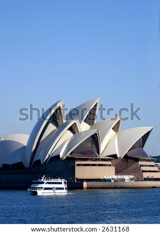 Sydney Opera House and ferry boat