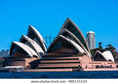 Sydney Opera House  Sep,24,2016.The Sydney Opera House,Sydney,Australia is famous art center.Over 10 millions tourists visit Sydney a year.