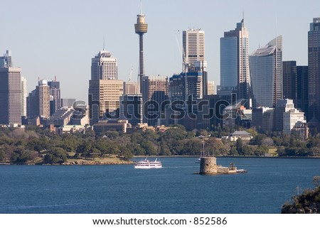 Sydney skyline, NSW, Australia, with Fort Denison (Pinchgut) in the the foreground