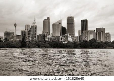 Sydney skyline with skyscrapers. Modern city in Australia. - stock photo